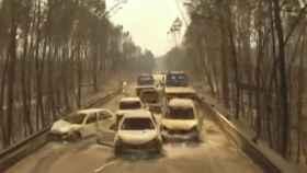 Imagen de la carretera en la que fallecieron la mayoría de las víctimas