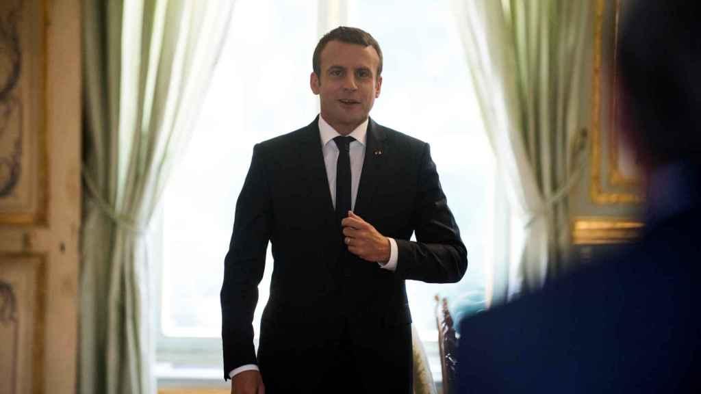 Macron en una imagen de archivo en el Elíseo