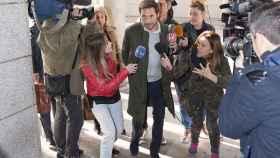 Antonio David a las puertas de los juzgados de Alcobendas
