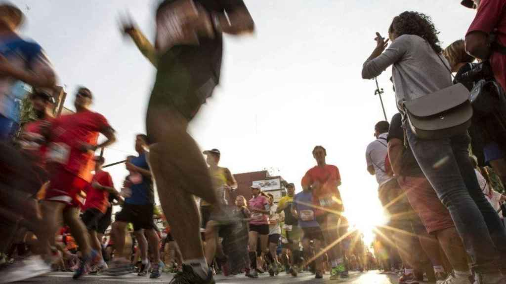Runners, por las calles de Madrid.