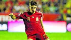 Munir, el día de su debut con la selección española absoluta.