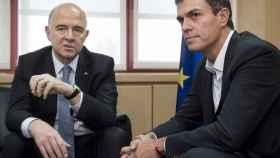 Sánchez se reunió con Moscovici, que le pidió que apoyase el tratado CETA con Canadá.