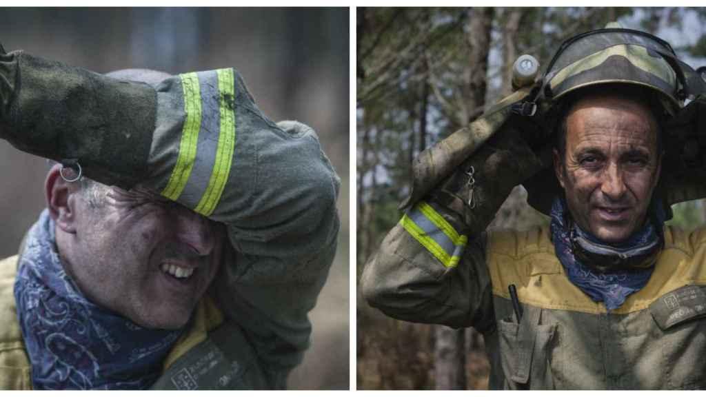 Los bomberos van cubiertos de pies a cabeza con ropa resistente a las llamas. El calor y la intensidad del trabajo les puede hacer perder varios kilos mientras apagan un solo incendio.