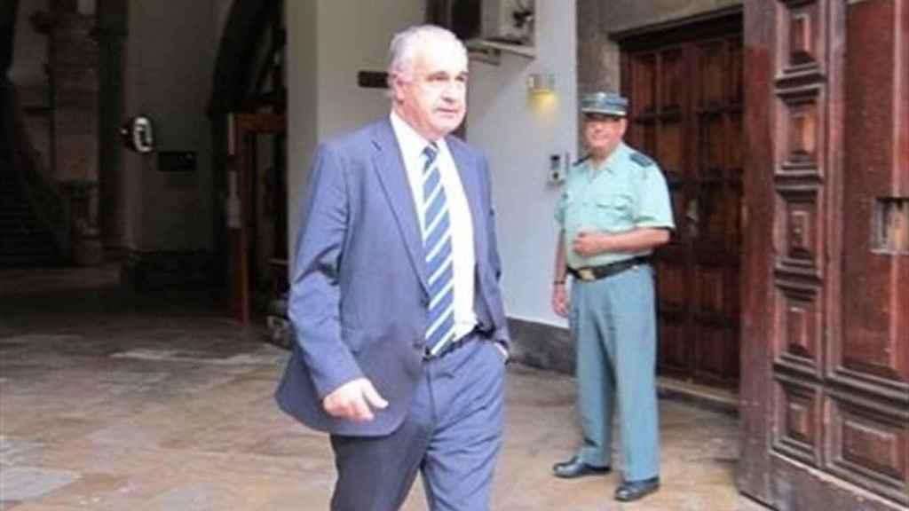 Rafael Blasco, a su salida del TSJCV.