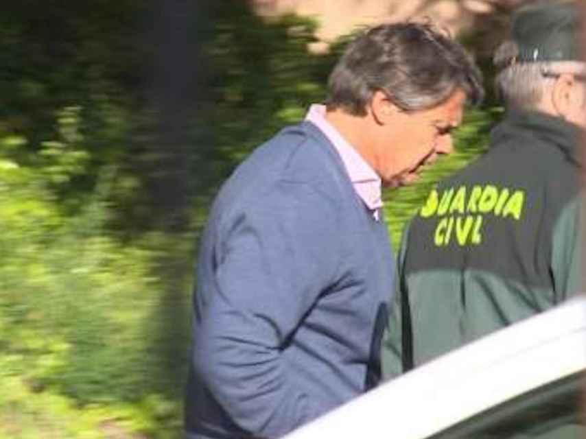El ex directivo de Mercasa, Pablo González, durante su detención.
