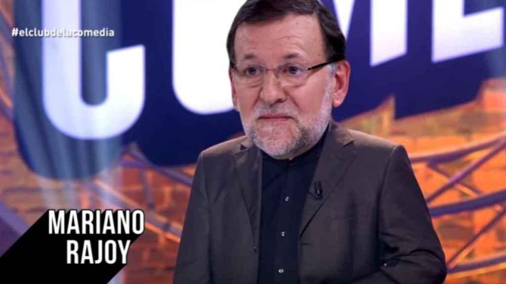 Mariano Rajoy en su nueva faceta de cómico