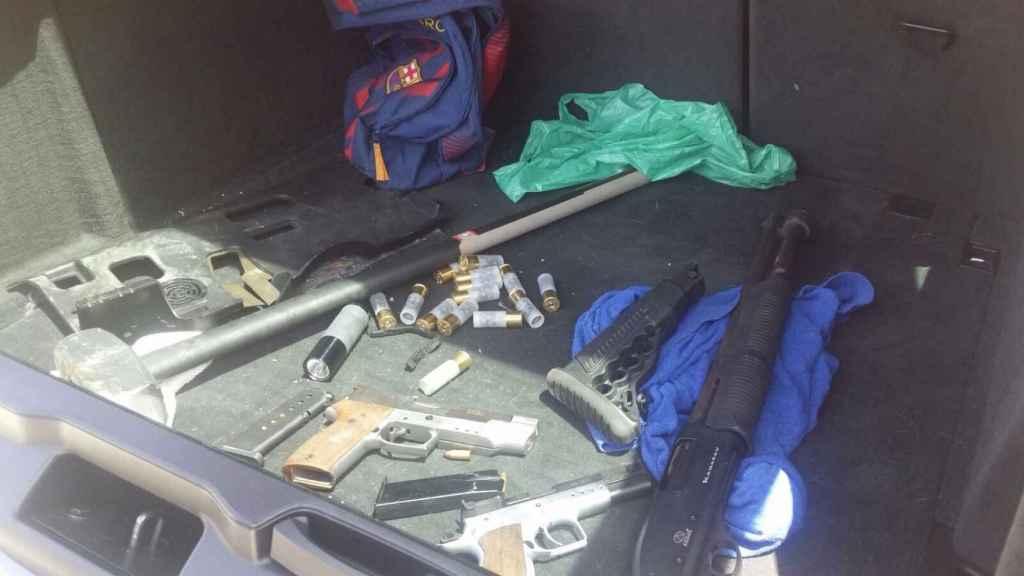 Armas decomisadas.