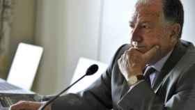El director del Centro Nacional de Inteligencia (CNI), Félix Sanz Roldán, durante una conferencia.
