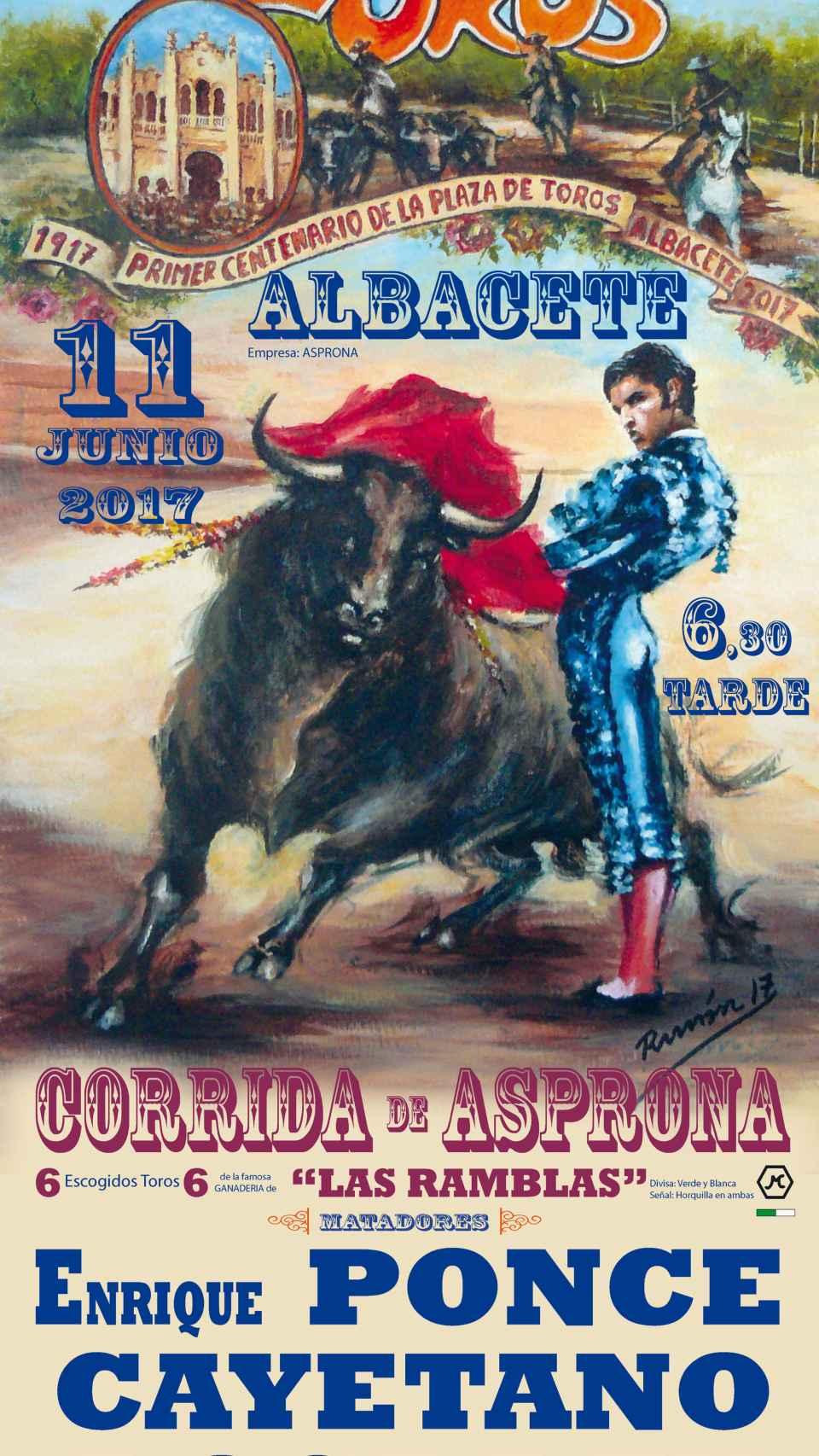 Cartel de la corrida de toros.
