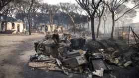 Así quedó una de las zonas asoladas por el incendio de Moguer.