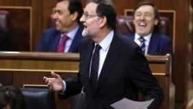 Mariano Rajoy durante su intervención en la última sesión de control al Gobierno.
