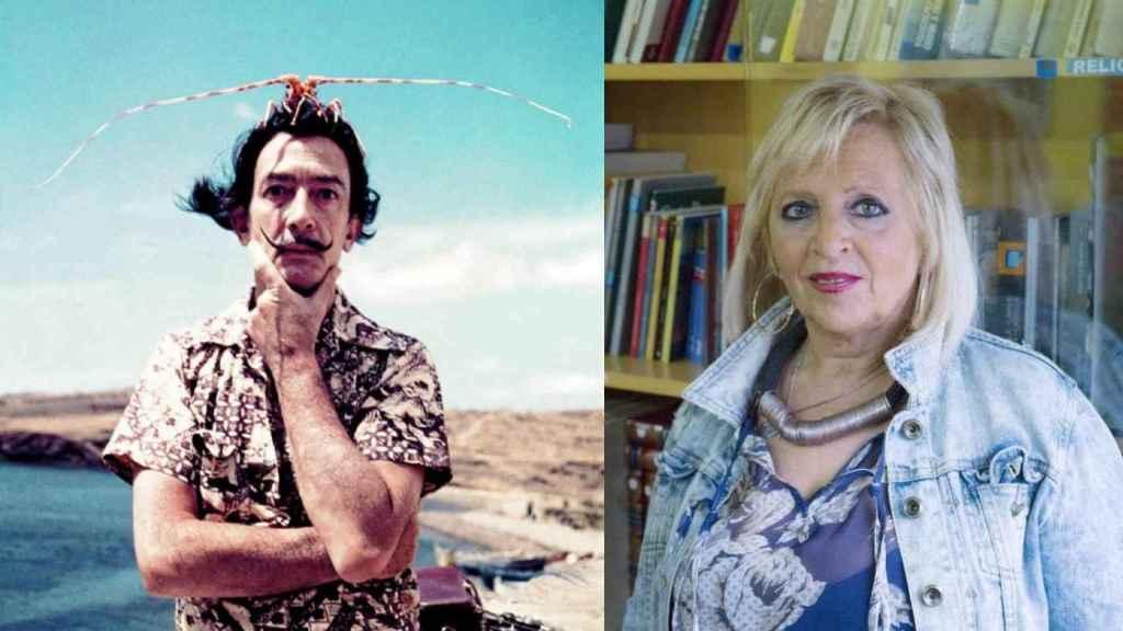 Salvador Dalí y Pilar Abel.