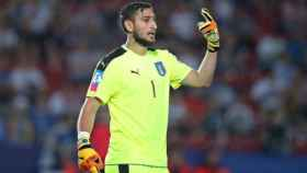 Donnaruma con Italia en este Europeo sub-21.