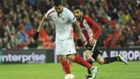 Vitolo jugando con el Sevilla. Foto: sevillafc.es