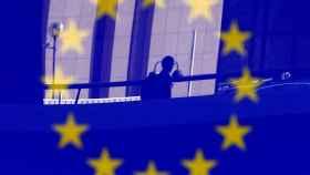 Bandera europea en Bruselas