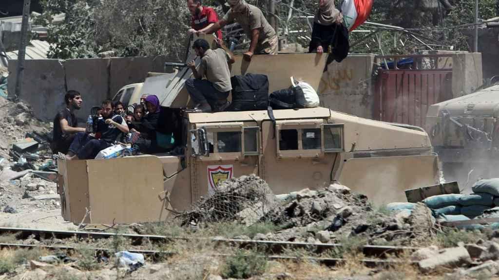 Evacuación de civiles en el oeste de Mosul