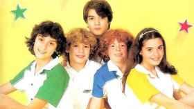 Los miembros del grupo Parchís en la portada de un disco