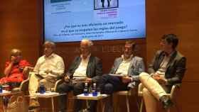 Luis Garicano hablando durante la presentación del libro 'Contra el capitalismo clientelar'