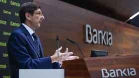 El presidente de Bankia, José Ignacio Goirigolzarri, explica la fusión con BMN.