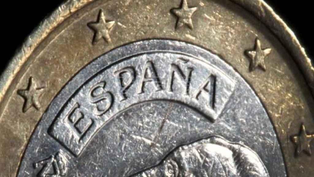 Una moneda de euro española.
