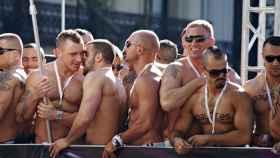 Una carroza del tradicional desfile del Orgullo Gay.