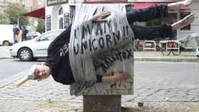 Soy un unicornio reza el mensaje de esta obra de Rallitox. La imagen ha dado la vuelta al mundo