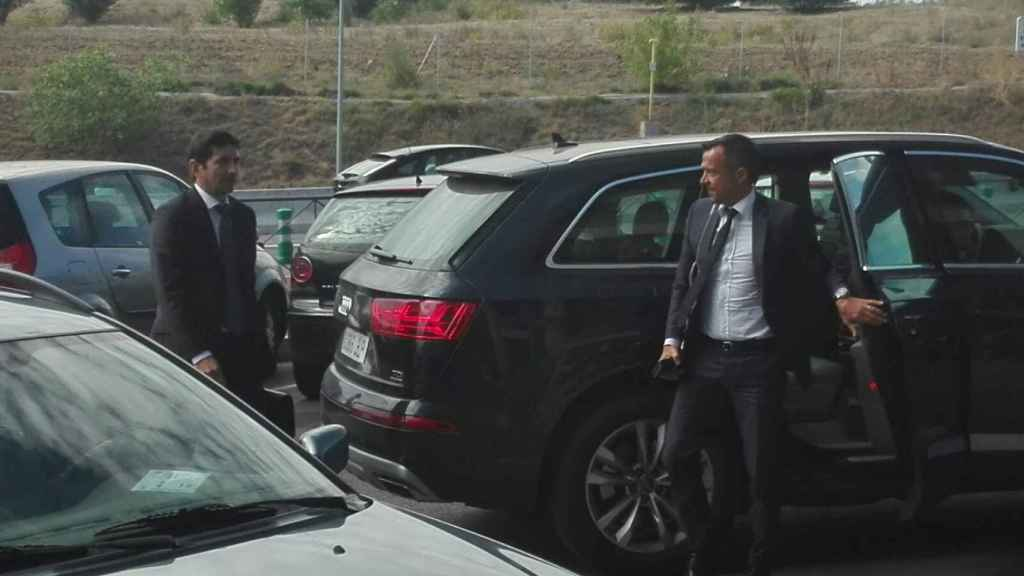Jorge Mendes a su llegada a los juzgados de Pozuelo