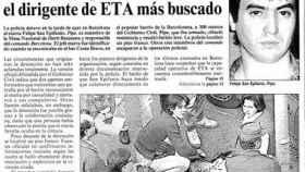 La noticia de la detención de San Epifanio, el dirigente más buscado.