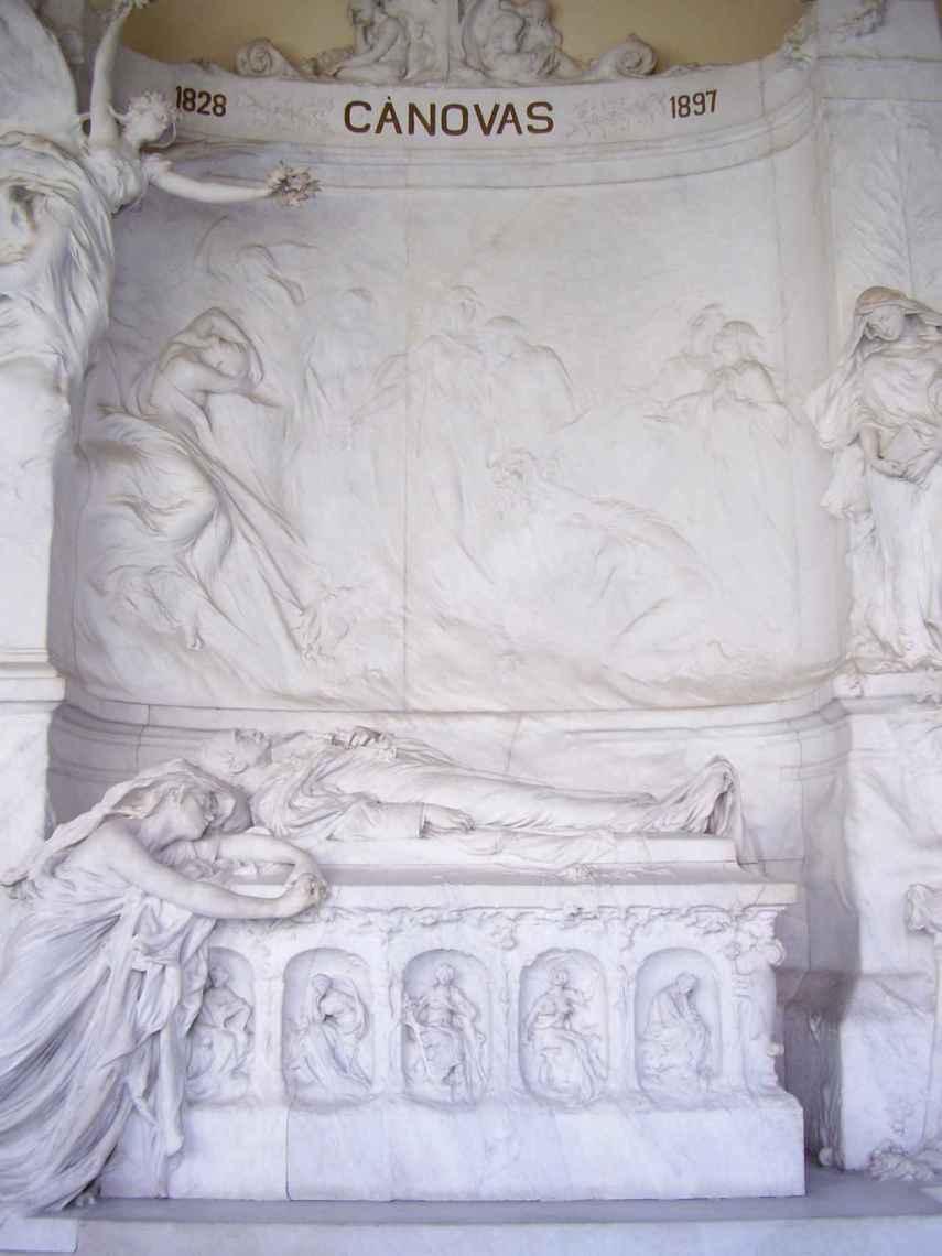 La tumba de Cánovas del Castillo