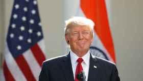 El presidente de EEUU, Donald Trump, en una conferencia de prensa en la Casa Blanca.