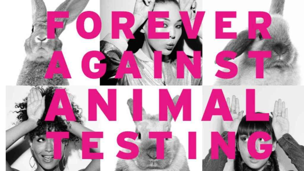 Imagen de la campaña de Siempre contra la experimentación en animales. | Foto: The Body Shop.