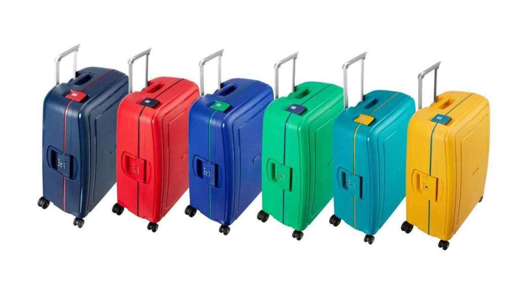 Samsonite S'Cure ofrece maletas en unos colores de edición especial: amarillo Piña, Azul Caribe, Verde Aloe o Azul Río.