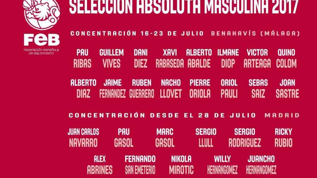Convocatorias de España para este verano.