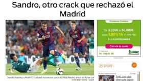 Sport presumía de Sandro y su 'no' al Madrid