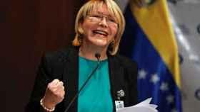 Luisa Ortega,  la fiscal venezolana, en una rueda de prensa