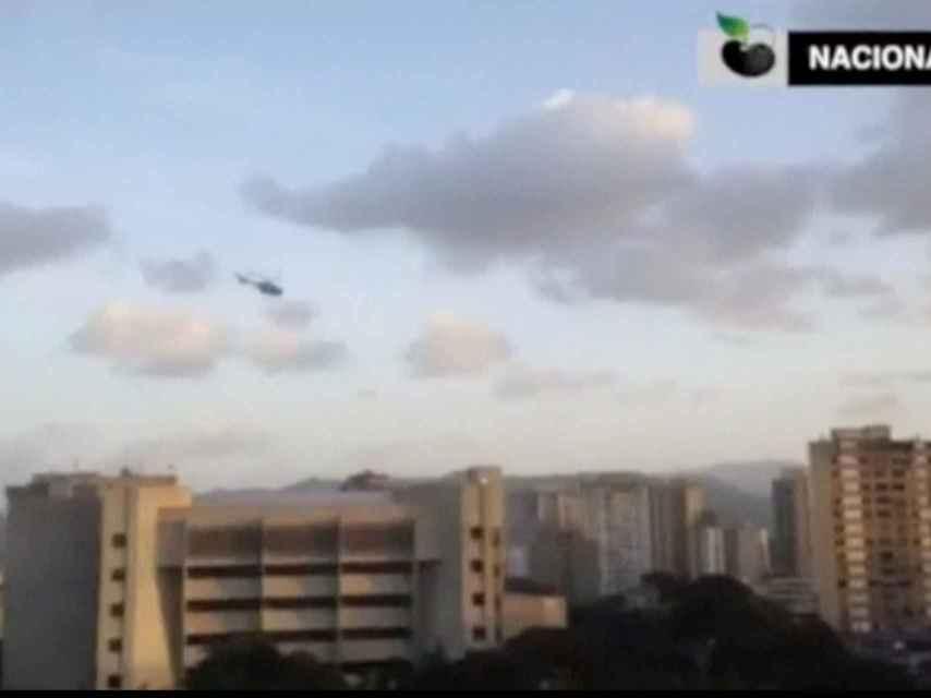El helicóptero cargó contra el Tribunal Supremo venezolano.