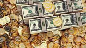 bitcoin-criptomoneda billetes dolares