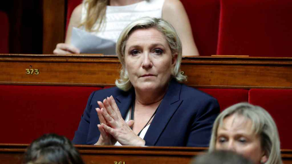 Marine Le Pen en el Parlamento francés.