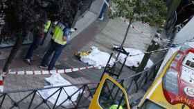 La escena del crimen de un asesinato ocurrido en Usera, Madrid. (Archivo)