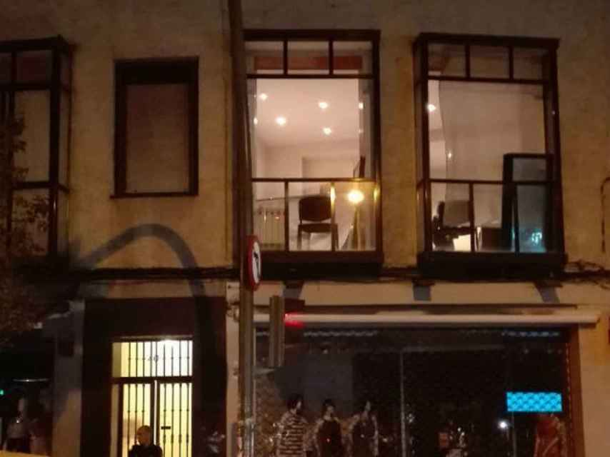 Durante toda la noche, los investigadores estuvieron en el despacho de Salas.