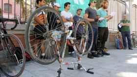 Riders de Deliveroo durante su reciente protesta.