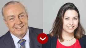 Nemesio Fernández-Cuesta, presidente de Isolux, y Diana Morato, general manager de Deliveroo España.