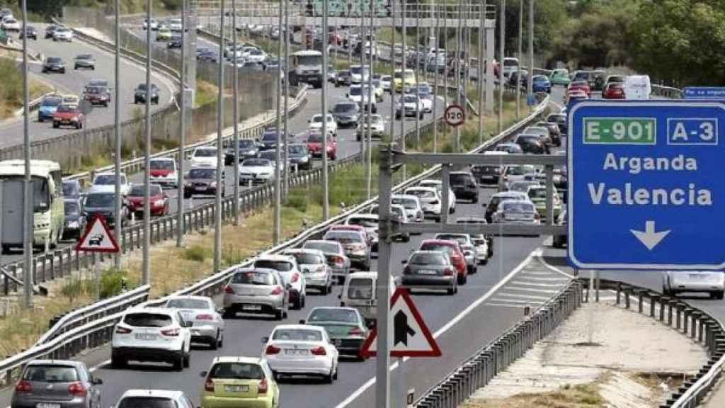 Imagen de archivo de la carretera A-3 dirección Madrid