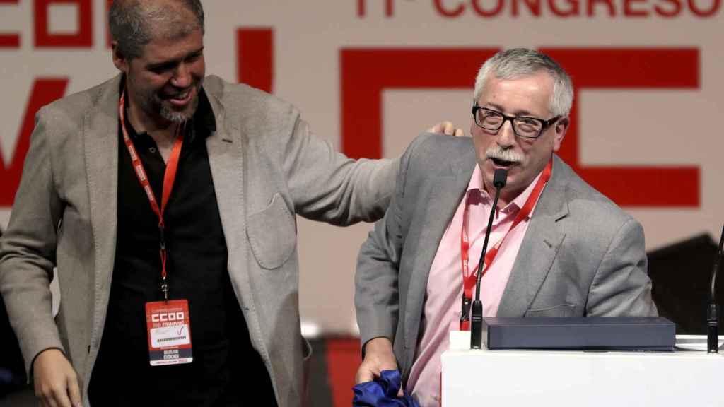 Unai Sordo e Ignacio Fernández Toxo.