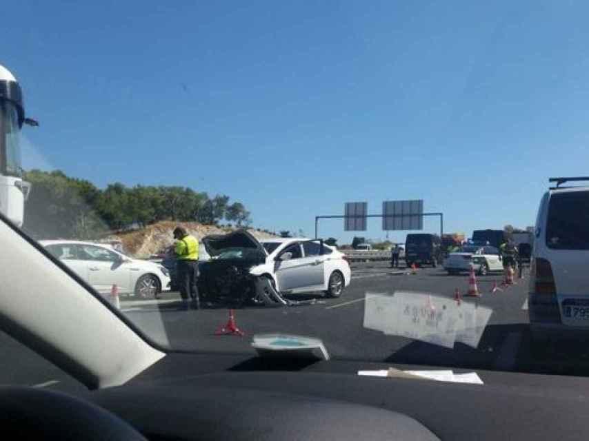 Imagen del accidente de Torremolinos.
