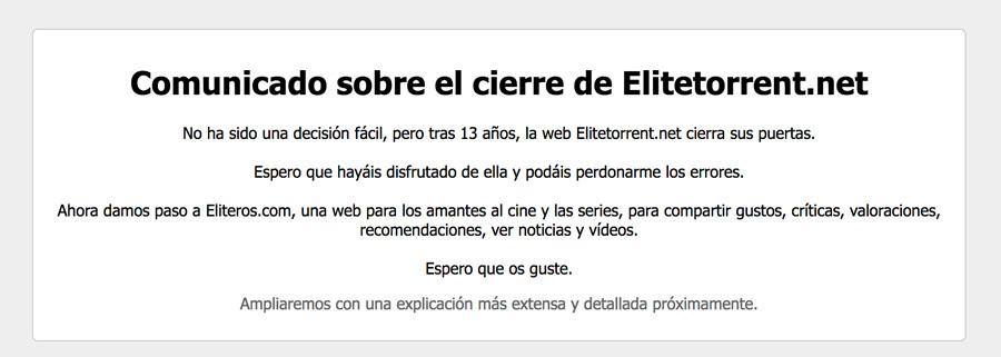 elite-torrent-comunicado