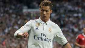 Cristiano concentrado en una acción frente al Sevilla. Foto: Pedro Rodríguez / El Bernabéu