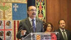 Javier Lambán, en un acto institucional.