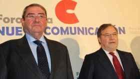 Alejandro Echevarría, presidente de Mediaset y Maurizio Carlotti, vicepresidente de Atresmedia.