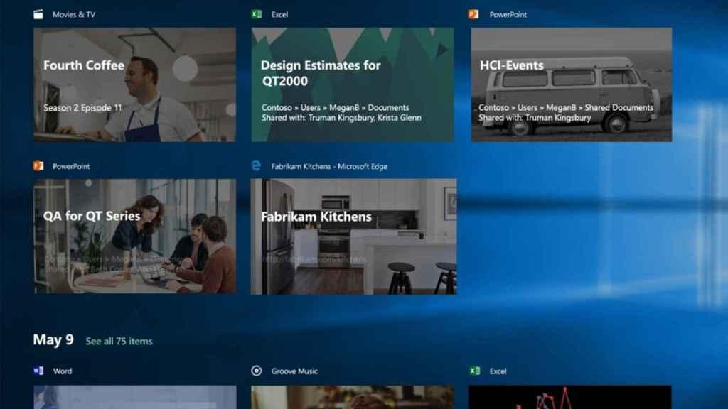 timeline windows 10 actualizacion